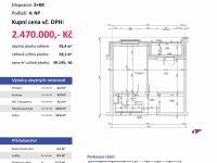 půdorys (Prodej bytu 2+kk v osobním vlastnictví 63 m², Plzeň)