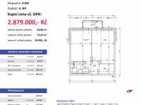 půdorys (Prodej bytu 2+kk v osobním vlastnictví 74 m², Plzeň)
