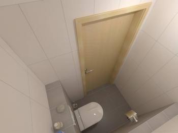 vizualizace WC - Prodej bytu 3+kk v osobním vlastnictví 99 m², Plzeň