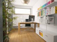 vizualizace pracovny (Prodej bytu 4+kk v osobním vlastnictví 275 m², Plzeň)