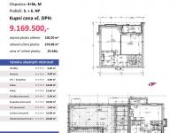 půdorys s výměrami (Prodej bytu 4+kk v osobním vlastnictví 275 m², Plzeň)