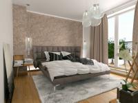 vizualizace ložnice (Prodej bytu 4+1 v osobním vlastnictví 275 m², Plzeň)