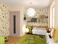 vizualizace dětského pokoje (Prodej bytu 4+kk v osobním vlastnictví 275 m², Plzeň)