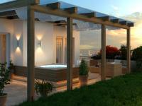 vizualizace terasy s vířivkou (Prodej bytu 4+kk v osobním vlastnictví 275 m², Plzeň)