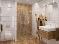 vizualizace spodní koupelny - Prodej bytu 4+kk v osobním vlastnictví 291 m², Plzeň