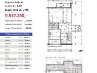 půdorys s výměrami - Prodej bytu 4+kk v osobním vlastnictví 264 m², Plzeň