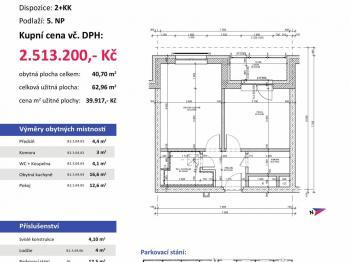 půdorys - Prodej bytu 2+kk v osobním vlastnictví 63 m², Plzeň