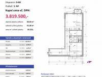 půdorys (Prodej bytu 2+kk v osobním vlastnictví 97 m², Plzeň)