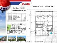 půdorys - Pronájem bytu 2+kk v osobním vlastnictví 81 m², Plzeň
