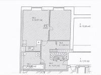 půdorys spodní části - Prodej bytu 4+kk v osobním vlastnictví 122 m², Plzeň