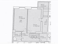 půdorys horní části - Prodej bytu 4+kk v osobním vlastnictví 122 m², Plzeň