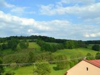 Výhled z terasy vedle půdy (Prodej penzionu 800 m², Zdíkov)