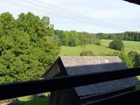 Výhled z lodžie v 2.NP (Prodej penzionu 800 m², Zdíkov)
