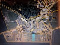 Letecký pohled. (Prodej pozemku 1362 m², Osek)