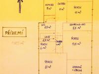 Prvotní orientační plánek. (Prodej domu v osobním vlastnictví 321 m², Lom)