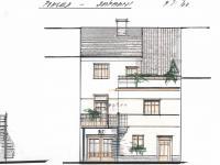 Architektonická studie pohledu ze dvora. - Prodej domu v osobním vlastnictví 520 m², Milevsko