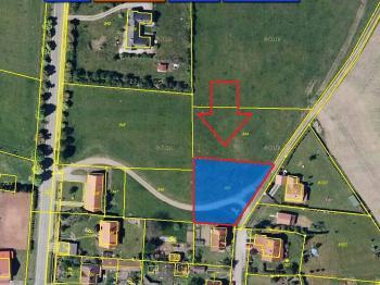 Poloha pozemku. - Prodej pozemku 1548 m², Vráž