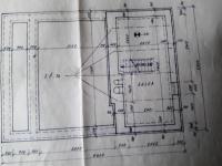Dispoziční plánky - částečné podsklepení. (Prodej chaty / chalupy 92 m², Lidmaň)