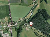 Pohled na leteckou mapu. (Prodej chaty / chalupy 92 m², Lidmaň)