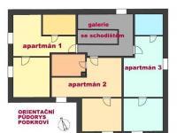 Půdorys podkroví (Prodej penzionu 220 m², Strážný)