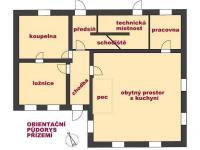 Půdorys přízemí (Prodej domu v osobním vlastnictví 220 m², Strážný)