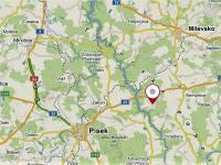 Poloha vzhledem k Písku. - Prodej domu v osobním vlastnictví 158 m², Olešná