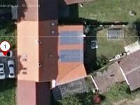 Letecký pohled na nemovitost. (Prodej domu v osobním vlastnictví 325 m², Vodňany)