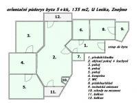 orientační půdorys  - Prodej bytu 5+kk v osobním vlastnictví 135 m², Znojmo