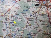 Poloha kempu na turistické mapě. - Prodej hotelu 2809 m², Dobronice u Bechyně