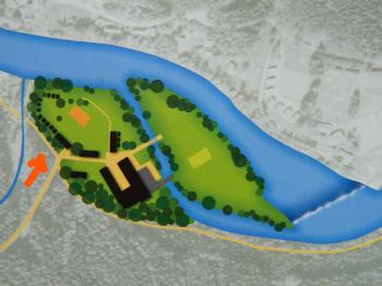Schéma areálu. - Prodej hotelu 2809 m², Dobronice u Bechyně