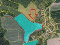 Mapa nemovitosti. K pozemkům přísluší ještě polnost Čihadla. - Prodej komerčního objektu 84774 m², Hluboká nad Vltavou