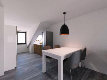 Jídelna - Prodej bytu 3+kk v družstevním vlastnictví 98 m², Praha 8 - Libeň