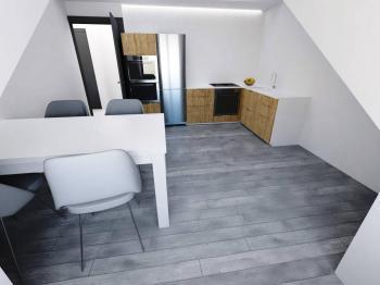 Kuchyně - Prodej bytu 2+kk v osobním vlastnictví 36 m², Praha 8 - Libeň