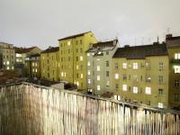 večerní výhled z balkonu (Prodej bytu 2+1 v osobním vlastnictví 68 m², Praha 4 - Nusle)