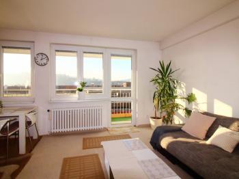 obývací pokoj - Prodej bytu 2+kk v osobním vlastnictví 64 m², Praha 4 - Braník