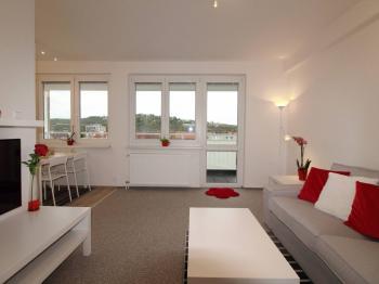 obývací prostor - Prodej bytu 2+kk v osobním vlastnictví 64 m², Praha 4 - Braník