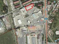 Mapa - Pronájem skladovacích prostor 1700 m², Uherské Hradiště