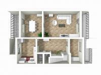 3D přízemí (Prodej domu v osobním vlastnictví 291 m², Chropyně)