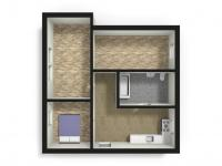 3D (Prodej bytu 3+kk v osobním vlastnictví 65 m², Staré Město)