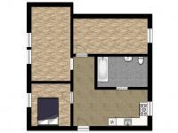 půdorys (Prodej bytu 3+kk v osobním vlastnictví 65 m², Staré Město)