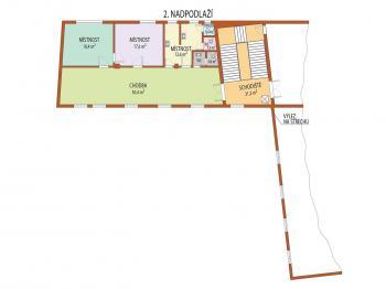 II. NP kancelářské prostory - Pronájem výrobních prostor 100 m², Uherský Brod