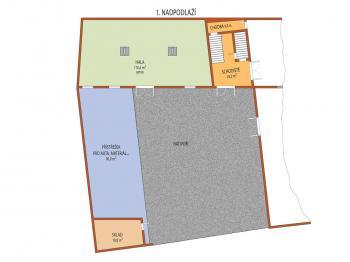 I. NP výrobní prostory - Pronájem výrobních prostor 100 m², Uherský Brod