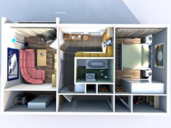 Pronájem bytu 2+1 v osobním vlastnictví 62 m², Uherské Hradiště