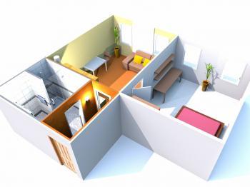 půdorys - Prodej bytu 2+kk v osobním vlastnictví 35 m², Brno