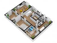 půdorys 2 NP - Prodej domu v osobním vlastnictví 244 m², Ostrožská Nová Ves