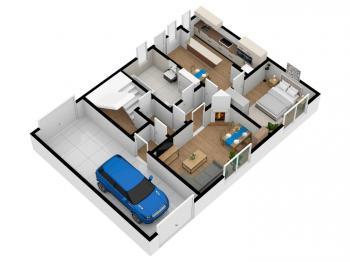 půdorys 1 NP - Prodej domu v osobním vlastnictví 244 m², Ostrožská Nová Ves