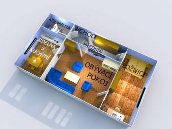 Prodej bytu 2+1 v os. vlast.- 43 m2, Přerov - Předmostí, Pod Skalkou  - Prodej bytu 2+1 v osobním vlastnictví 43 m², Přerov