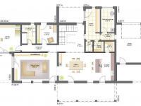 půdorys přízemí (Prodej domu v osobním vlastnictví 289 m², Kořenec)