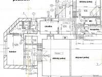 2 NP půdorys - Prodej domu v osobním vlastnictví 190 m², Křtiny