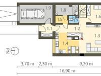 1. NP půdorys - Prodej domu 230 m², Viničné Šumice